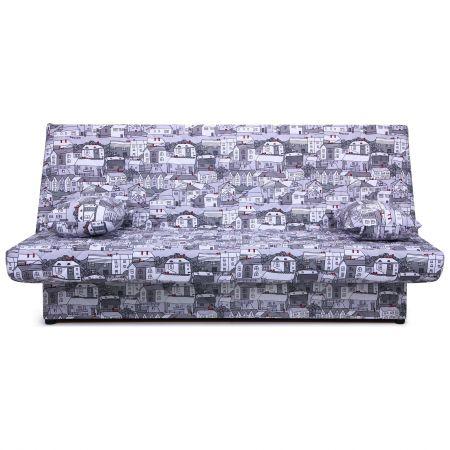 диван кровать ньюс механизм клик кляк City Gray с двумя подушками