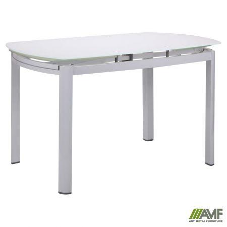 стол обеденный раскладной кассандра B179 71 18001200800770 база белыйстекло белый