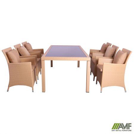 комплект мебели Samana 6 из ротанга Elit Sc 8849 Sand Am3041 ткань A14203