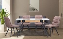 Обеденный комплект стол Корлеоне + стул Georgia Mokko