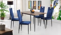 Обеденный комплект стол Helena + стулья Alabama темно-синий