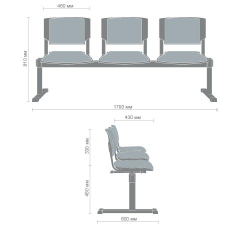 Характеристики Кресло Франческо бук/серый