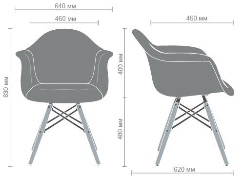 Характеристики Кресло Salex FB Wood Patchwork