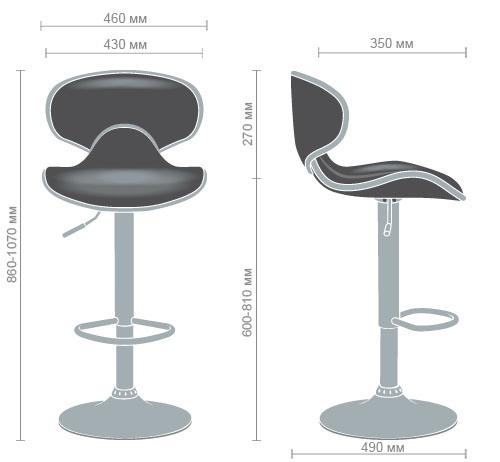 Характеристики Барный стул Cantal коричневый
