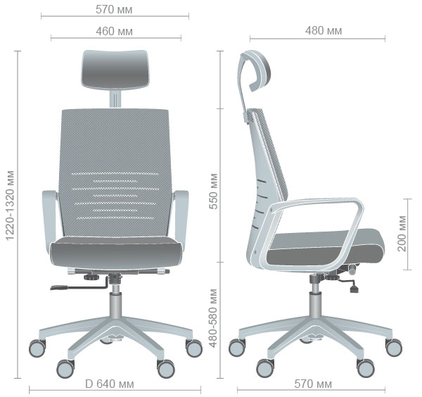 Характеристики Кресло Oxygen HB циркон/лазурь