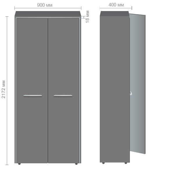 Характеристики Шкаф книжный Оникс 900х400х2172 Венге прованс