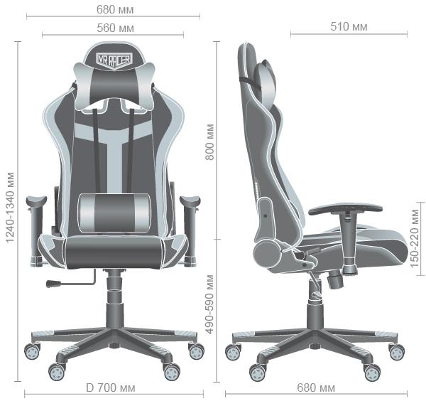 Характеристики Кресло VR Racer Dexter Hound черный/красный