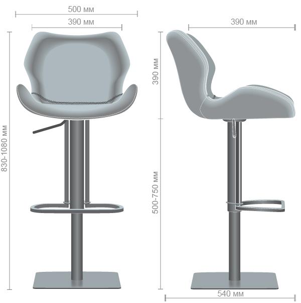 Характеристики Барный стул Pinto dimgray PU