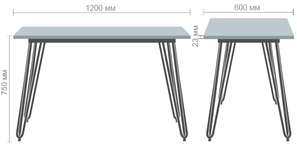 Характеристики Стол Smith 120х60 черный