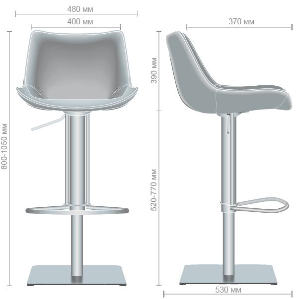 Характеристики Барный стул Carner, caramel leather