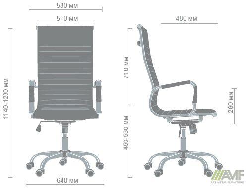 Характеристики Кресло Slim HB (XH-632) черный