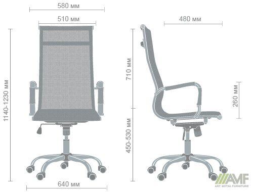 Характеристики Кресло Slim Net HB (XH-633) белый