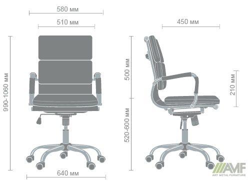 Характеристики Кресло Slim FX LB (XH-630B) черный