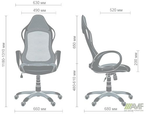 Характеристики Кресло Nitro белый, сиденье Неаполь N-20/спинка Сетка черная
