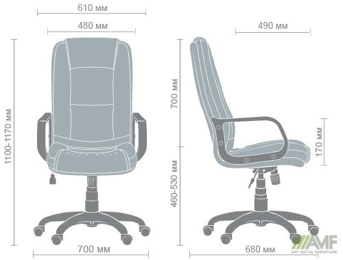 Характеристики Кресло Марсель Пластик Неаполь N-20
