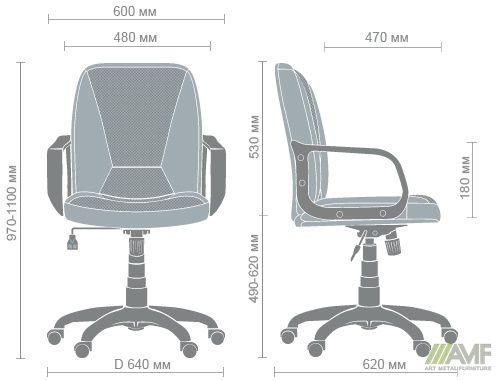 Характеристики Кресло Лига Пластик Неаполь N-20 вставка Сетка серая