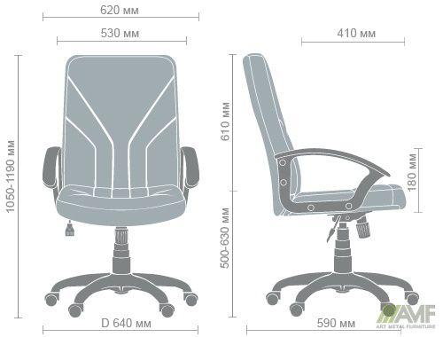 Характеристики Кресло Менеджер Пластик Неаполь N-20