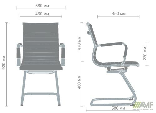 Характеристики Кресло Slim CF (XH-632C) серый