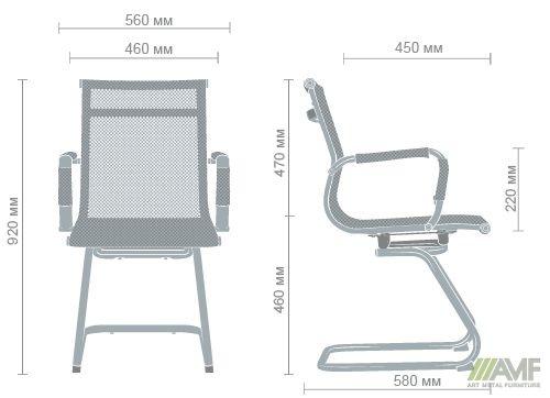 Характеристики Кресло Slim Net CF (XH-633C) черный