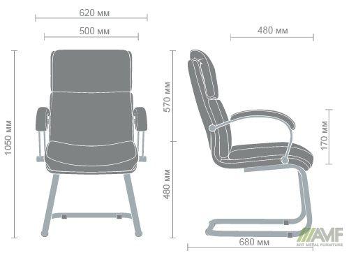 Характеристики Кресло Техас CF хром Мадрас дк браун