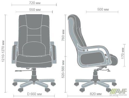 Характеристики Кресло Ричмонд, кожа коричневая (642-B+PVC)