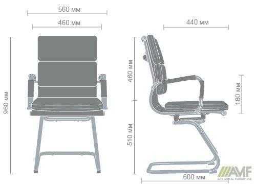 Характеристики Кресло Slim FX CF (XH-630C) черный