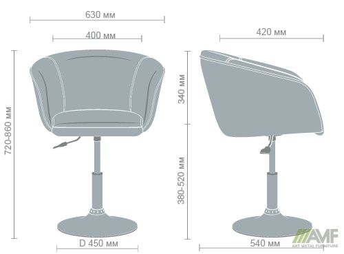 Характеристики Кресло Дамкар Хром Неаполь N-20