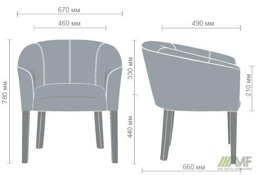 Характеристики Кресло Велли орех Неаполь N-17
