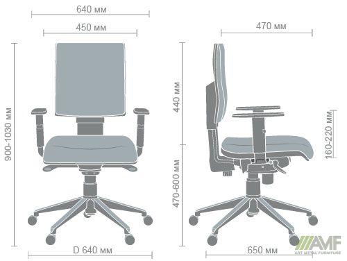 Характеристики Кресло Спейс Алюм LB Неаполь N-36