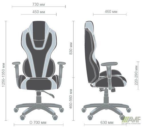 Характеристики Кресло VR Racer Atom черный, PU черный/красный