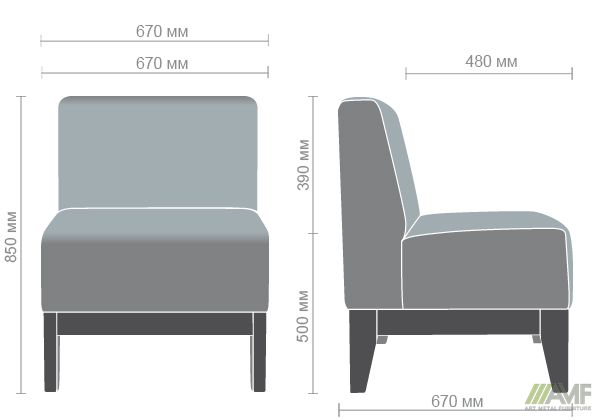 Характеристики Диван Квадро на деревянном каркасе (Н250) венге 670*670*850Н Неаполь N-36