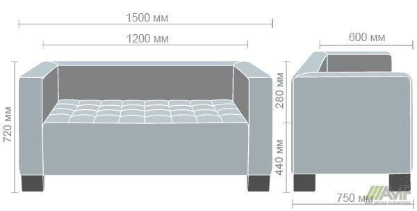 Характеристики Диван Кристалл 1,5 Неаполь N-22