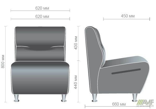 Характеристики Диван Комби одноместный модуль Неаполь N-20