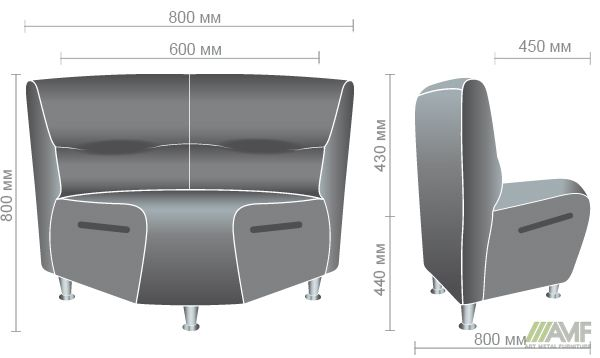 Характеристики Диван Комби угловой модуль Неаполь N-20