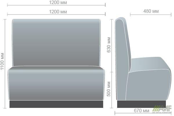Характеристики Диван Хит на цоколе (H100) венге 1200*670*1100H Мадрас Олива