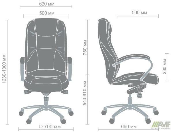 Характеристики Кресло Мустанг MB Хром Неаполь N-50