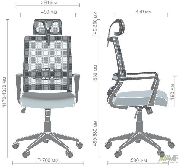 Характеристики Кресло Radon черный/оливковый