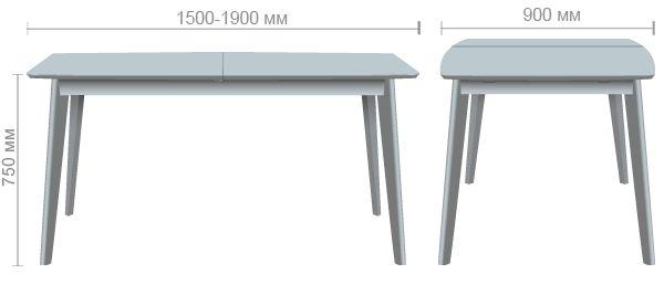 Характеристики Стол обеденный раздвижной Чедер бук беленый