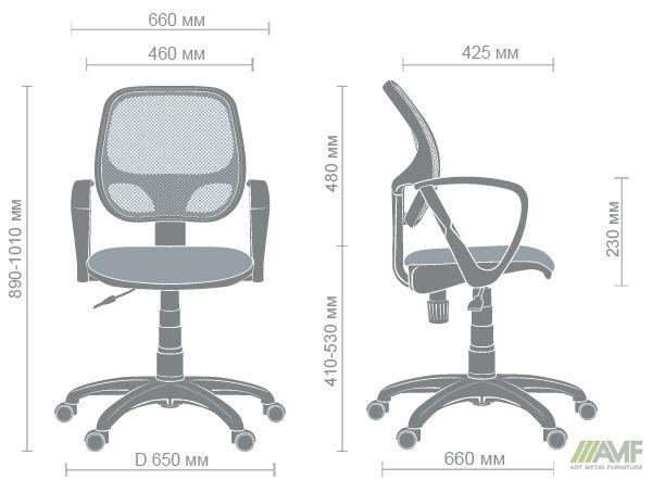 Характеристики Кресло Бит Color/АМФ-7 сиденье Сетка серая/спинка Сетка салатовая