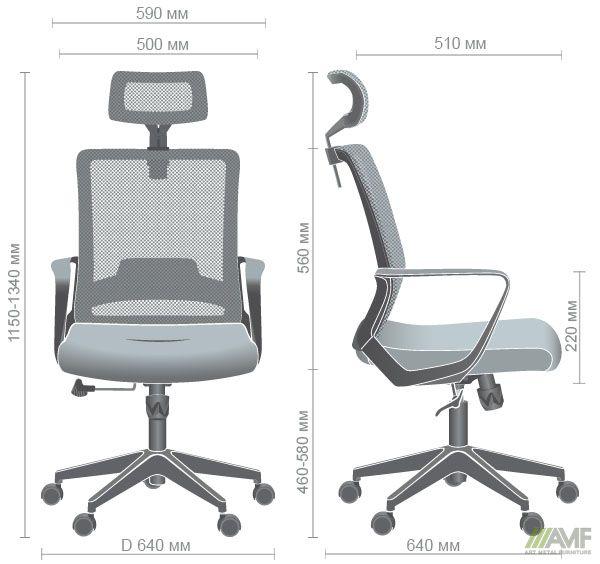 Характеристики Кресло Argon HB серый