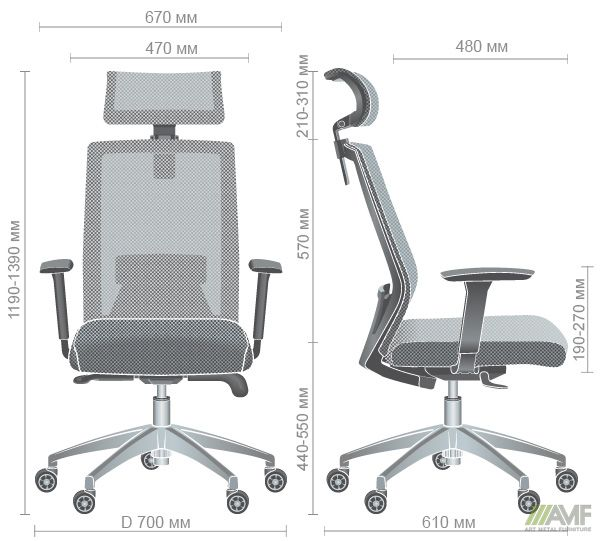 Характеристики Кресло Link серый