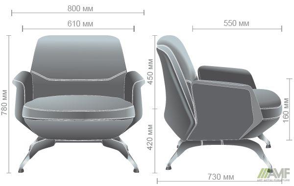 Характеристики Кресло Absolute Grey/Black