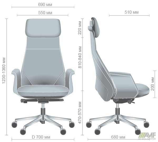 Характеристики Кресло Absolute HB Grey