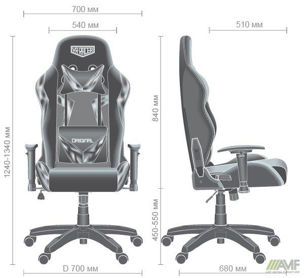 Характеристики Кресло VR Racer Original Dazzle черный/камуфляж