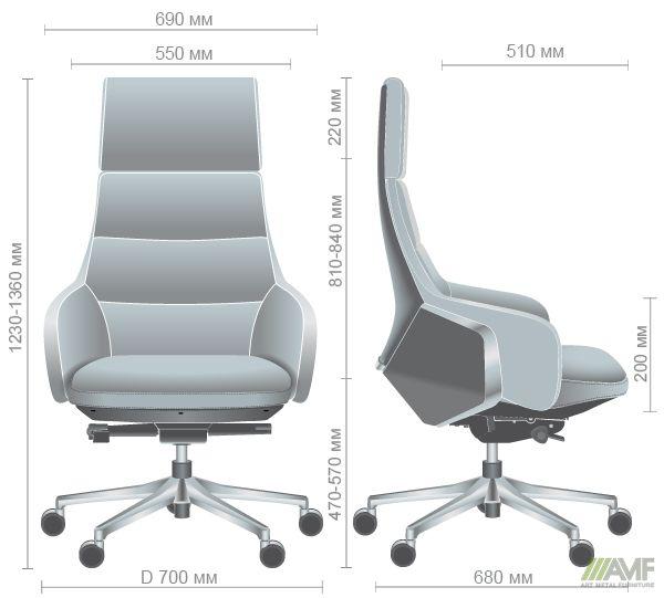 Характеристики Кресло Dominant HB Brown