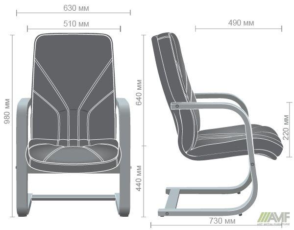 Характеристики Кресло Менеджер CF орех светлый Неаполь N-22