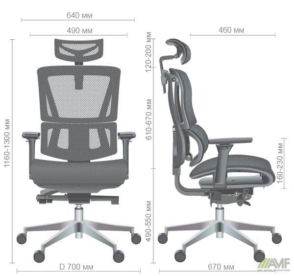Характеристики Кресло Agile Black Alum Black
