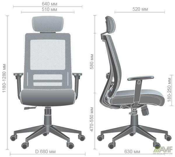 Характеристики Кресло Scrum серый/черный