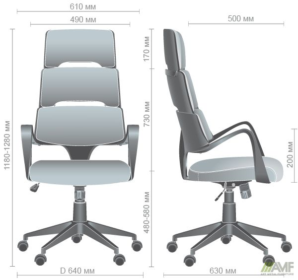Характеристики Кресло Spiral Grey сине-серый