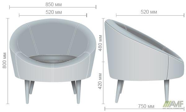 Характеристики Кресло Eclipse Сидней серый 20,черный 7, подушка черный 7